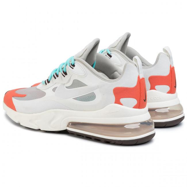 Shoes NIKE Air Max 270 React AO4971 200 Lt Beige ChalkPlatinum Tint