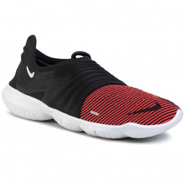 Shoes NIKE Free Rn Flyknit 3.0 AQ5707 007 BlackBright CrimsonWhite