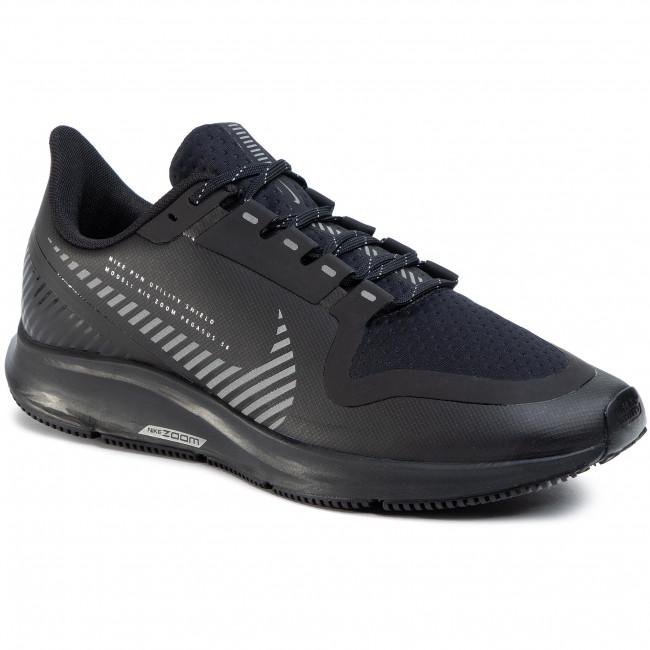Shoes NIKE - Air Zoom Pegasus 36 Shield AQ8005 001 Black/Black/Metallic  Silver