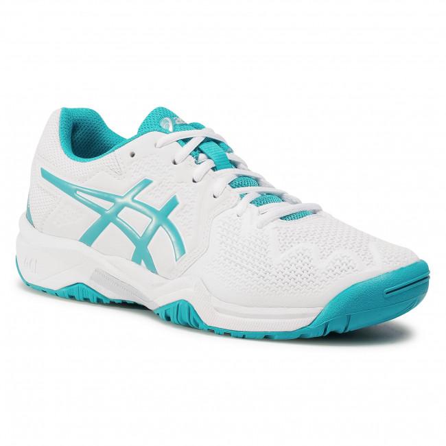 Footwear ASICS - Gel-Resolution 8 Gs 1044A018  White/Lagoon 106