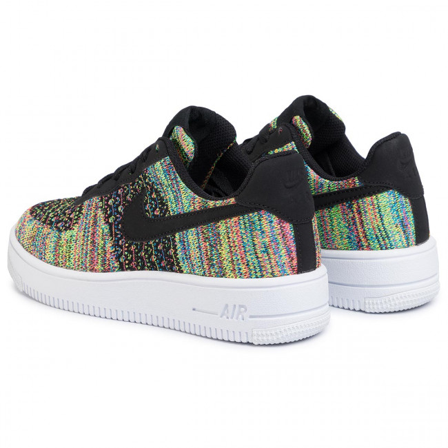 Shoes NIKE Air Force 1 Flyknit 2.0 (Gs) BV0063 002 BlackBlackHyper PinkVolt