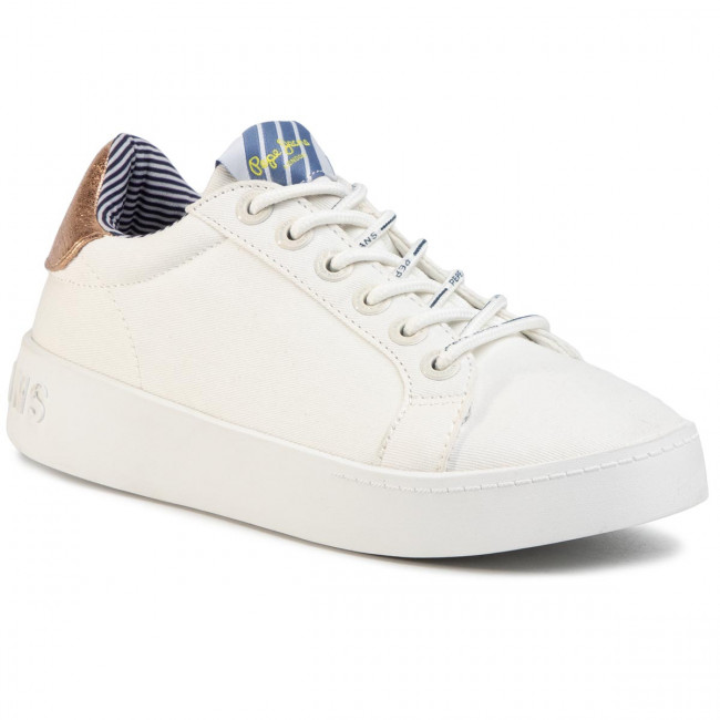 Sneakers PEPE JEANS - Brixton Fun PLS30967 White 800