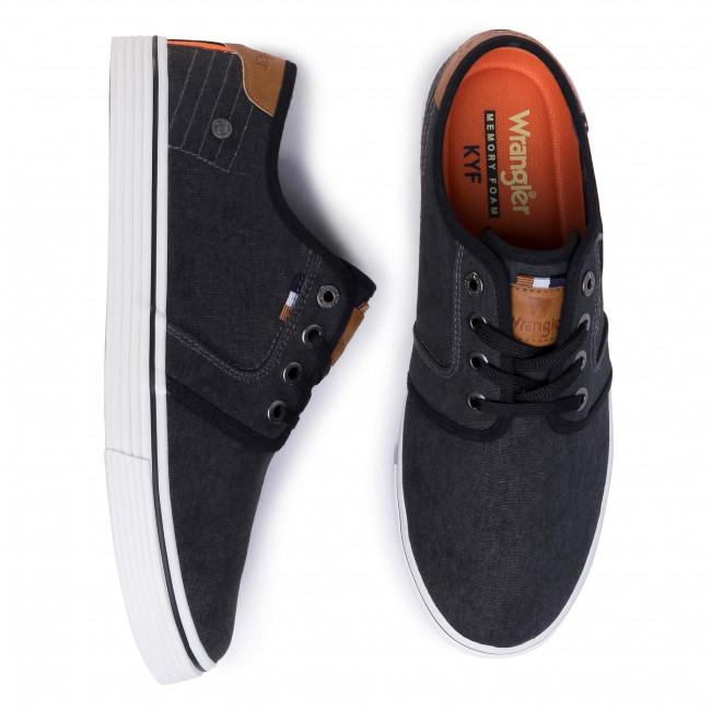 Plimsolls WRANGLER - Odyssey Derby WM01040A Black 062 - Plimsolls - Low shoes - Men's shoes