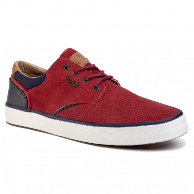 Plimsolls WRANGLER - Monument Suede WM01003A  Red 087