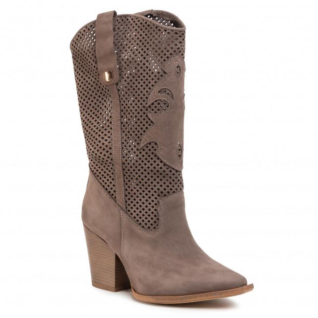 Knee High Boots R.POLAŃSKI - 1070 Taupe Nubuk