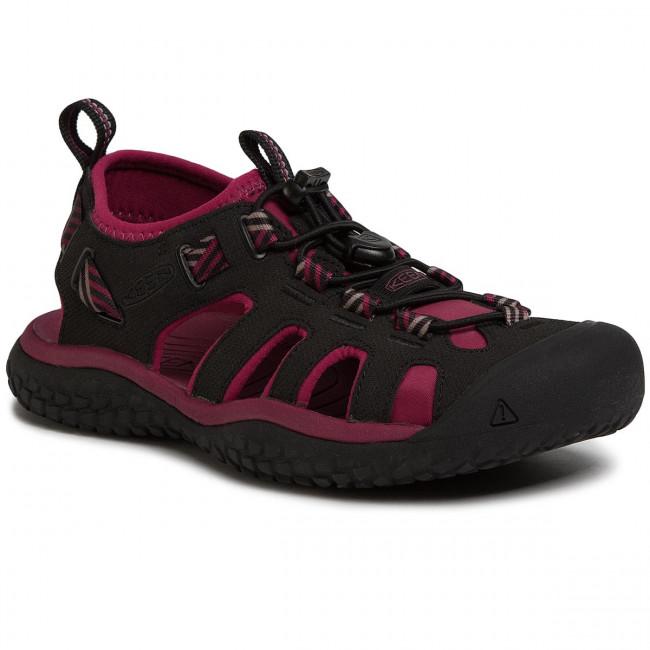 Sandals KEEN - Solr Sandal 1022454 Raspberry Wine/Black