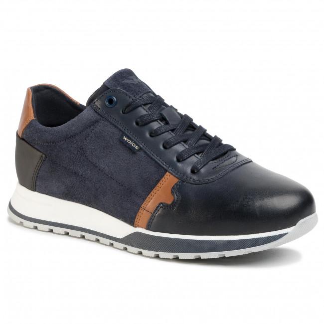 Sneakers WOJAS - 10021-76 Granatowy/J. Brąz