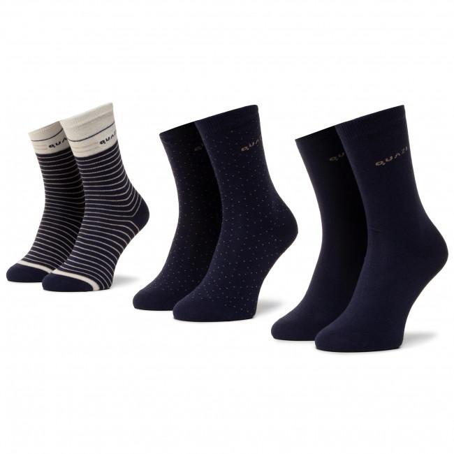 3 Pairs of Women's High Socks QUAZI QZ SOCKS 65 04 WOMAN 003 Navy Blue