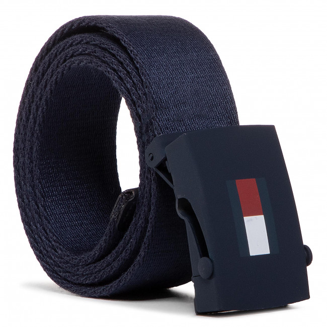 Kids' belt TOMMY HILFIGER - Kids Plaque Belt AU0AU00991 BLU