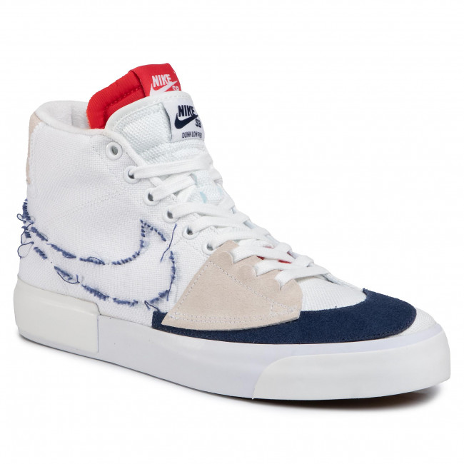 Shoes NIKE Sb Zoom Blazer Mid Edge CI3833 100 WhiteMidnight NavyUniversity Red