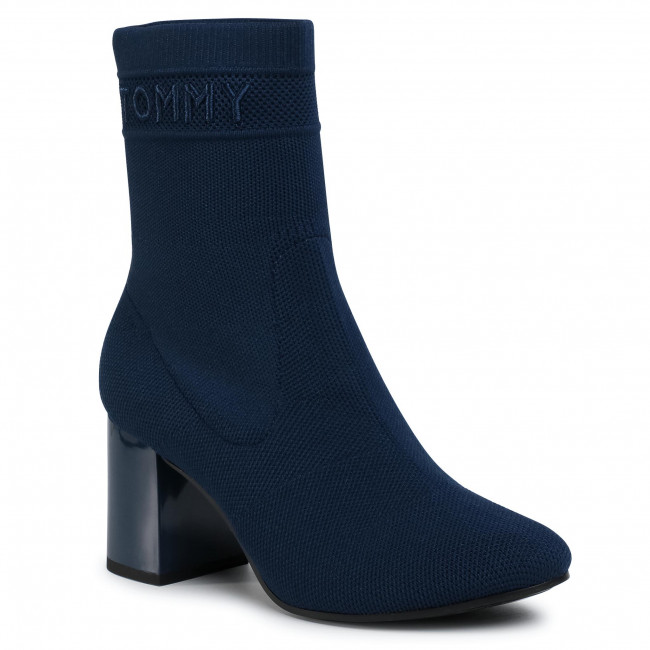 Tommy Knit Mid Heel Boot FW0FW04974