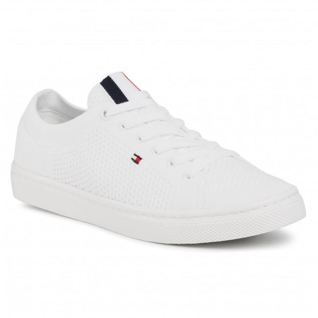 Plimsolls TOMMY HILFIGER - Lightweght Casual Sneaker FW0FW05007 White YBR