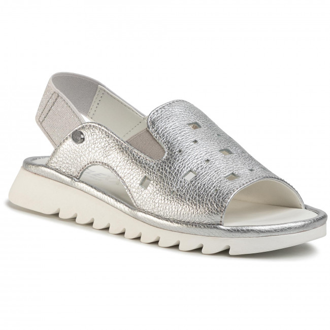 Sandals THE FLEXX - Square Wave-Metal Shimmer B222/49 Silver