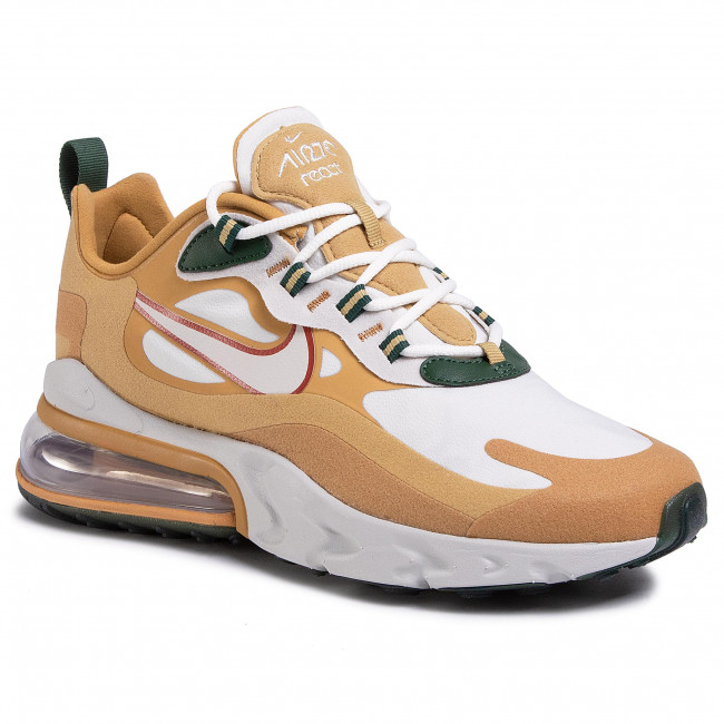 Shoes NIKE Air Max 270 React AO4971 700 Club GoldLight BoneFlt Gold