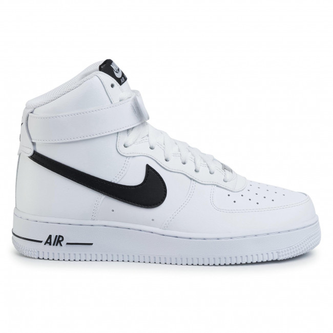 air force 1 high black and white
