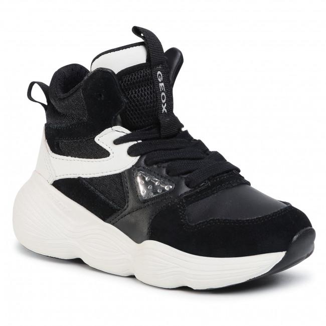 Trainers GEOX - J Bubblex G. A  J04CNA 05422 C0504 S Black/White