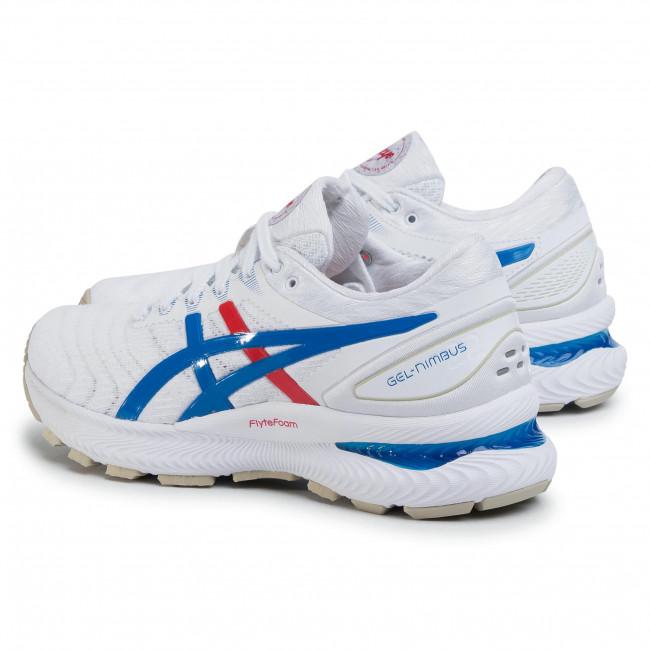 Sale Asics Gel nimbus 22 Sneaker Whiteelectric Blue Asics