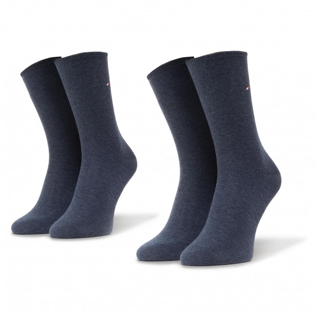 2 Pairs of Women's High Socks TOMMY HILFIGER - 371221356 Jeans 039