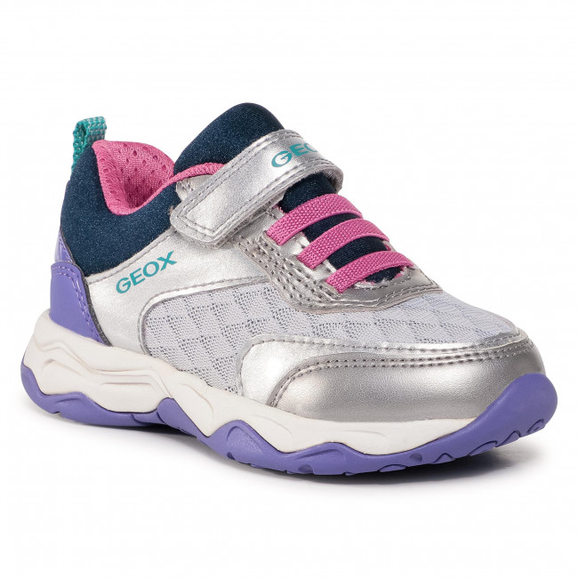 Prohibición Desviarse retroceder  Trainers GEOX - J Calco G. A J04CMA 0NF14 C1AN8 M Dk Silver/Violet - Velcro  - Low shoes - Girl - Kids' shoes | efootwear.eu