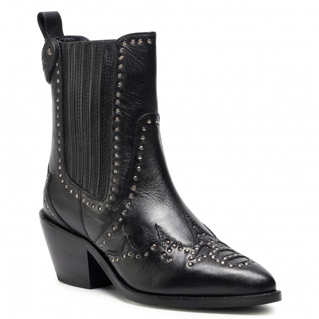 Ankle boots PEPE JEANS - Western W Studs PLS50395  Black 999