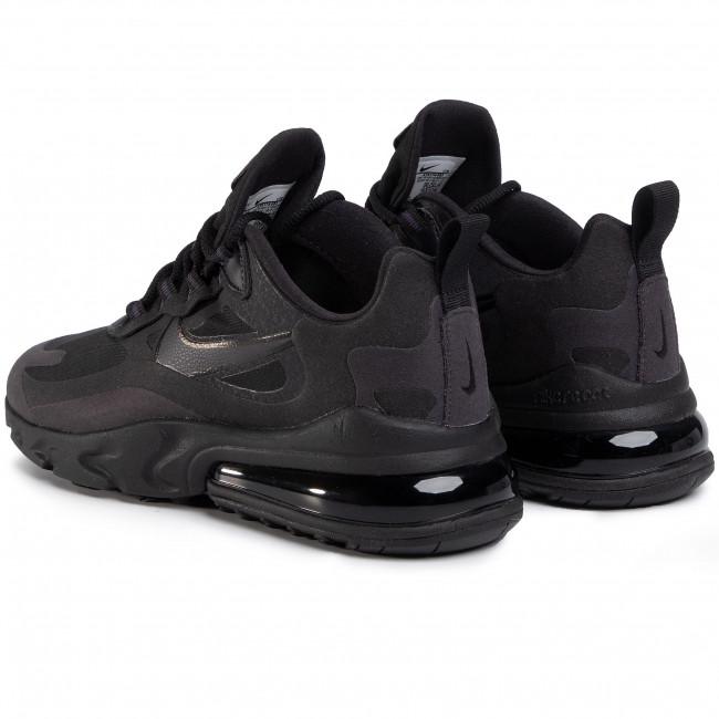 air max 270 react on feet black