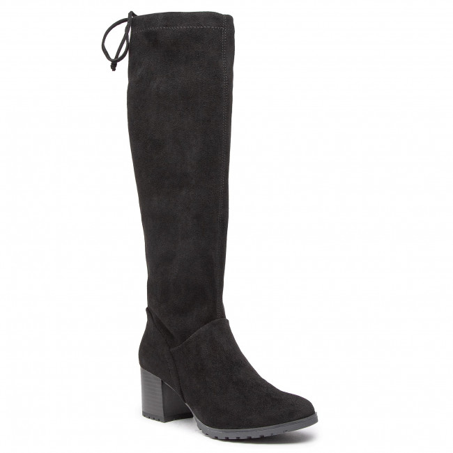 Knee High Boots CAPRICE - 9-25606-25 Black Stretch 044