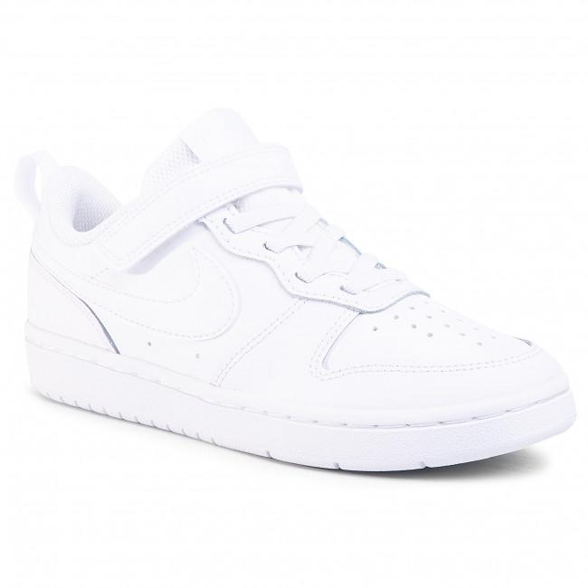 Shoes NIKE Court Borough Low 2 (Psv) BQ5451 100 WhiteWhiteWhite