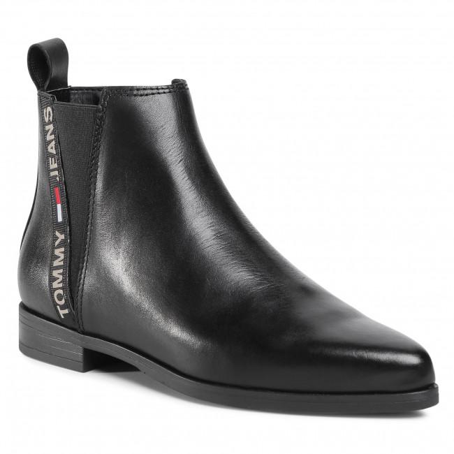 Chelsea boots TOMMY JEANS - Essential Pointy Chelsea Boot EN0EN01068 Black BDS