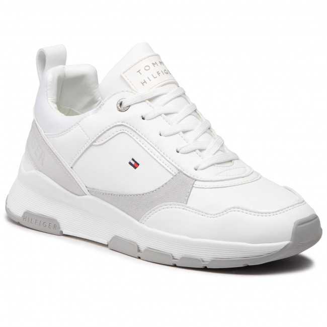 Trainers TOMMY HILFIGER - Sporty Chunky Leather Sneaker FW0FW05287 White YBR