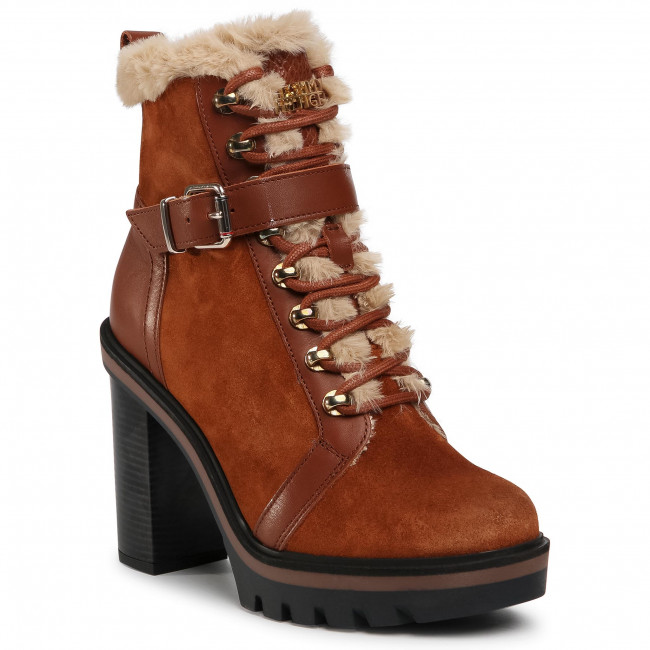 Ankle boots TOMMY HILFIGER - Tommy Warm Lined High Heel Boot FW0FW05187 Pumpkin Paradise GOW