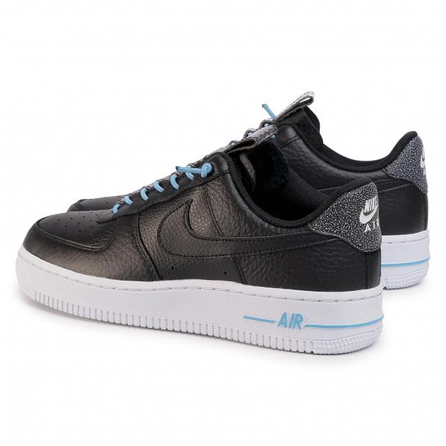 Shoes NIKE Air Force 1 '07 Lx 898889 015 BlackBlackLight BlueBlack