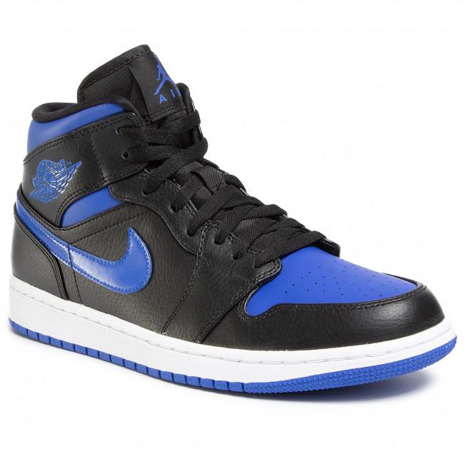 diapositiva Clancy Penetrar  Shoes NIKE - Air Jordan 1 Mid 554724 068 Black/Hyper Royal/White - Sneakers  - Low shoes - Men's shoes   efootwear.eu