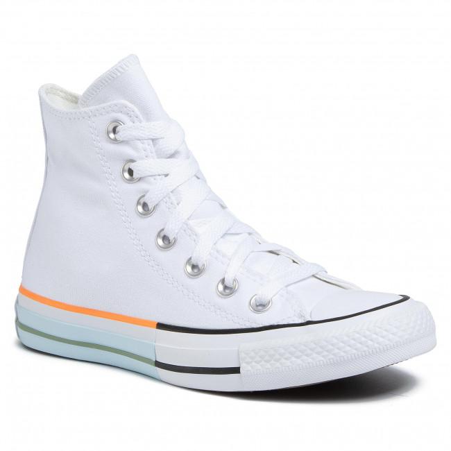 Sneakers CONVERSE - Ctas Hi 167751C White/Street Sage/Agate Blue