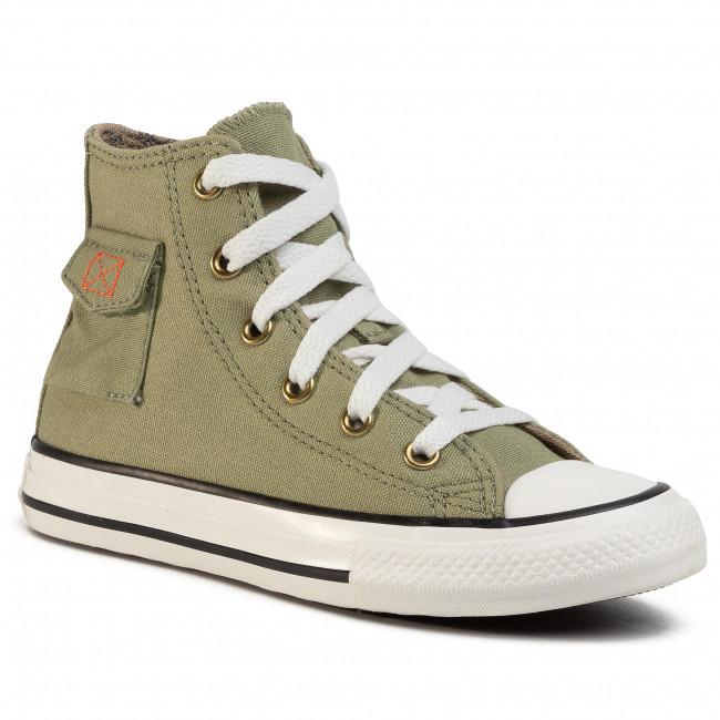 Sneakers CONVERSE Ctas Pocket Hi 667783C Street SageKhaki