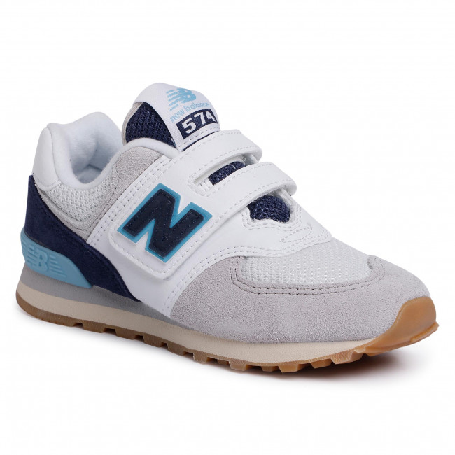 Sneakers NEW BALANCE - YV574SOU Colourful Grey - Velcro - Low ...