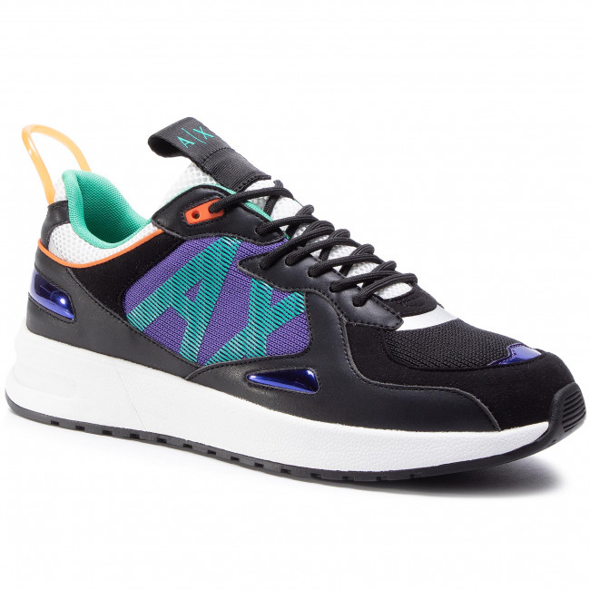 Sneakers ARMANI EXCHANGE - XUX070 XV241 K496 Black/Purple
