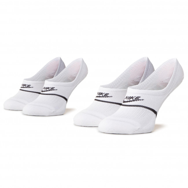 Set of 2 pairs of unisex boat socks NIKE - CU0692 100 White