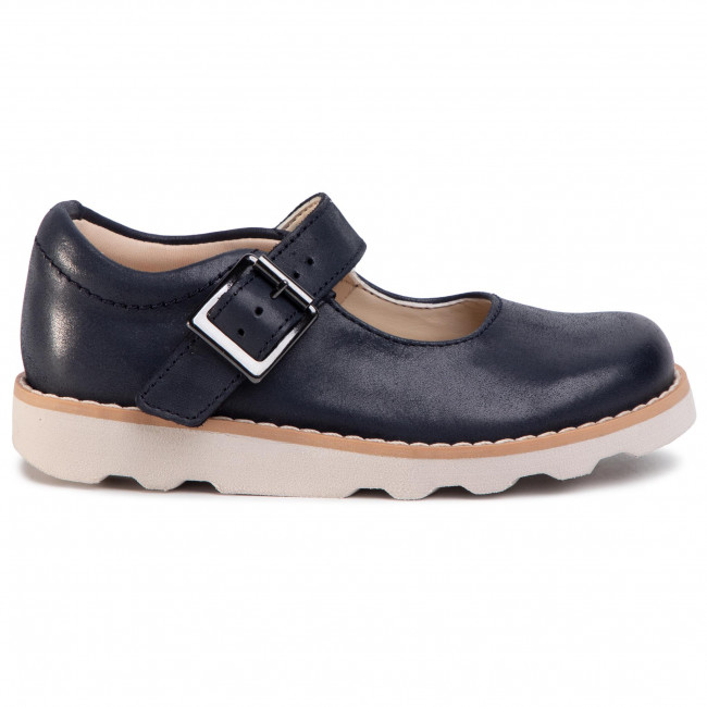 BNIB Clarks Girls Crown Honor Navy Leather Air Spring Shoes E//F//G Fitting