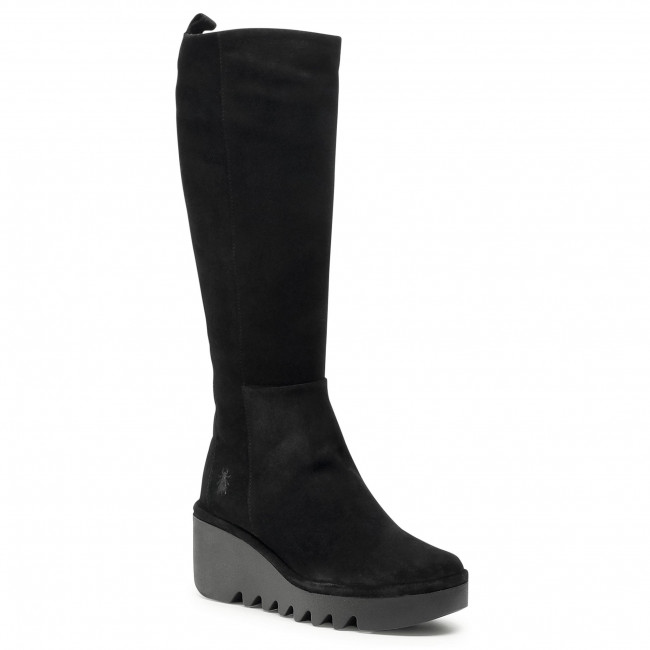 Knee High Boots FLY LONDON - Barvfly P501251000 Oil Suede Black