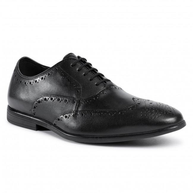 Shoes CLARKS - Bampton Rhodes 261521117  Black Leather