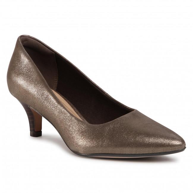 Clarks Women's Linvale Jerica Pump Size  6.5 Color: Metallic Leather
