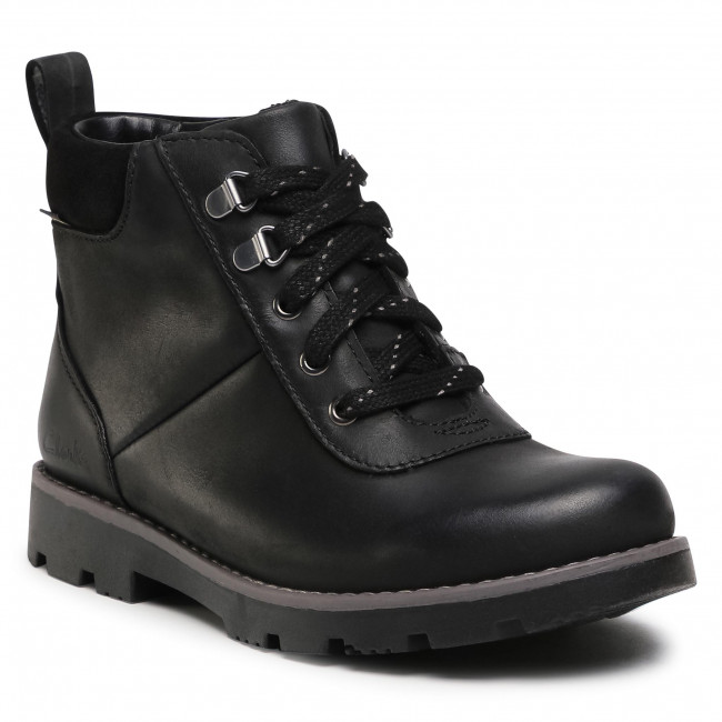 Boots CLARKS - Heath Go Gtx K GORE-TEX 261537107  Black Leather