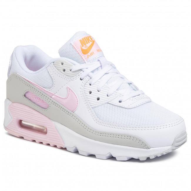 Shoes NIKE Nike Air Max 90 CZ0371 100 WhitePink FoamTotal Orange