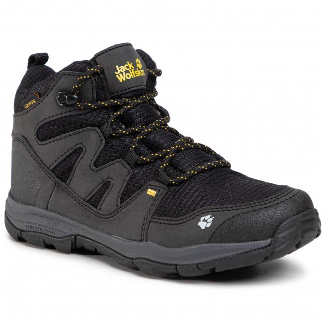 Trekker Boots JACK WOLFSKIN - Mtn Attack 3 Texapore Mid K 4034081 S Black/Burly Yellow XT