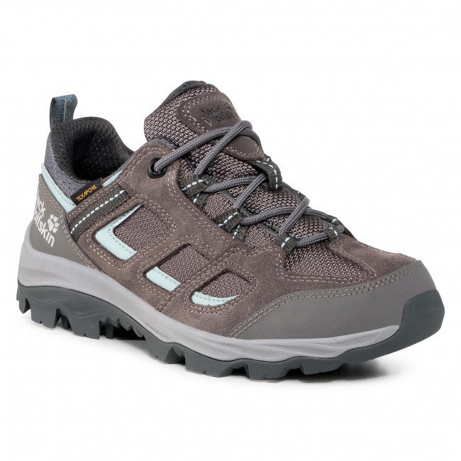Trekker Boots JACK WOLFSKIN - Vojo 3 Texapore Low W 4042451 Tarmac Grey/Light Blue