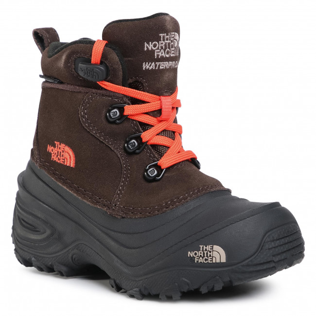 Snow Boots THE NORTH FACE -  Youth Chilkat Lace II NF0A2T5RV6M Coffee Brown/Flare