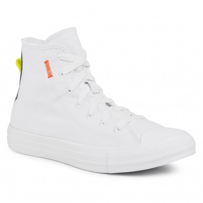 Sneakers CONVERSE - Ctas Hi 168594C  White/Lemon Venom/Black