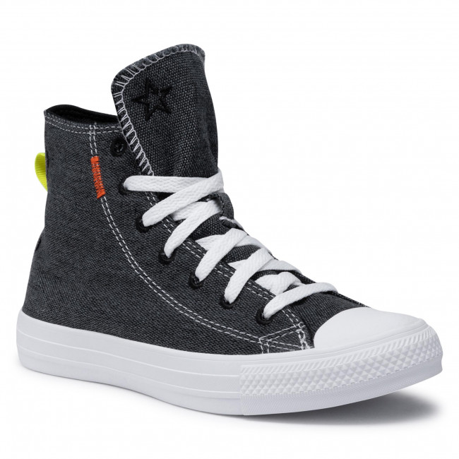 Sneakers CONVERSE - Ctas Hi 168595C Black/Lemon Venom/White