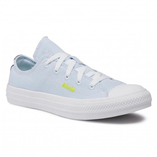 Sneakers CONVERSE - Ctas Ox 168603C  Chambray Blue/Lemon Venom