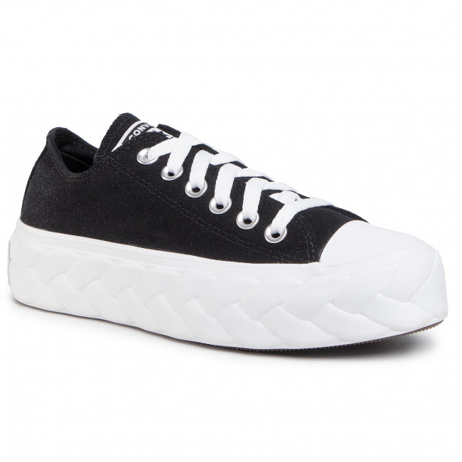 Sneakers CONVERSE - Ctas Lift Cable Ox 568894C Black/White/Black